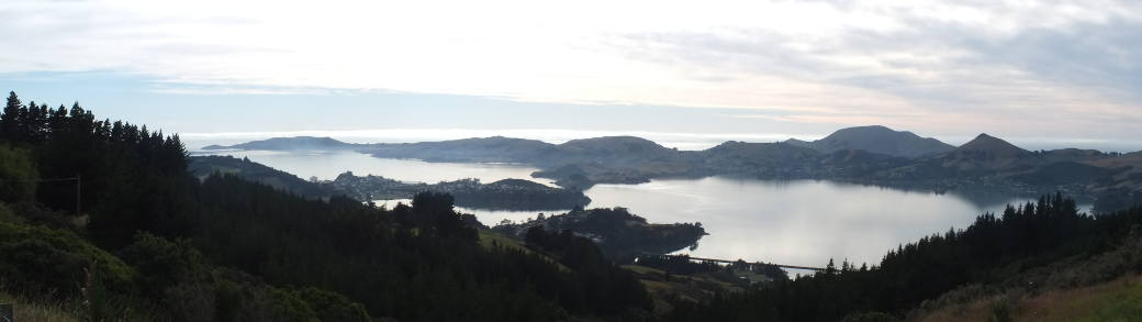 A view of West harbour, Dunedin, Otago, New Zealand